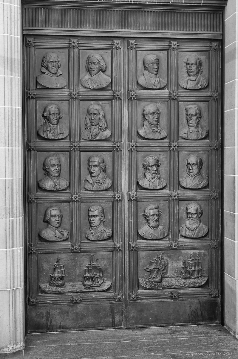Faces in the door