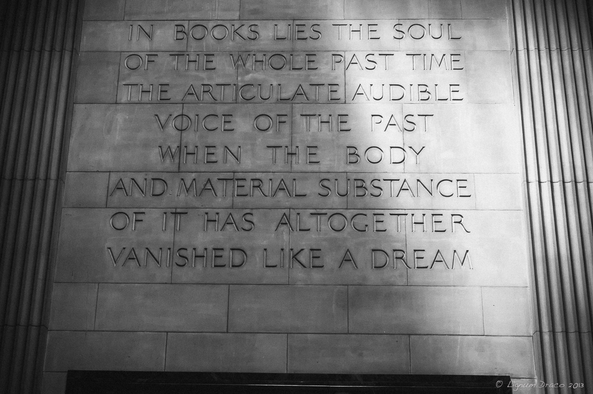 In books lies the soul