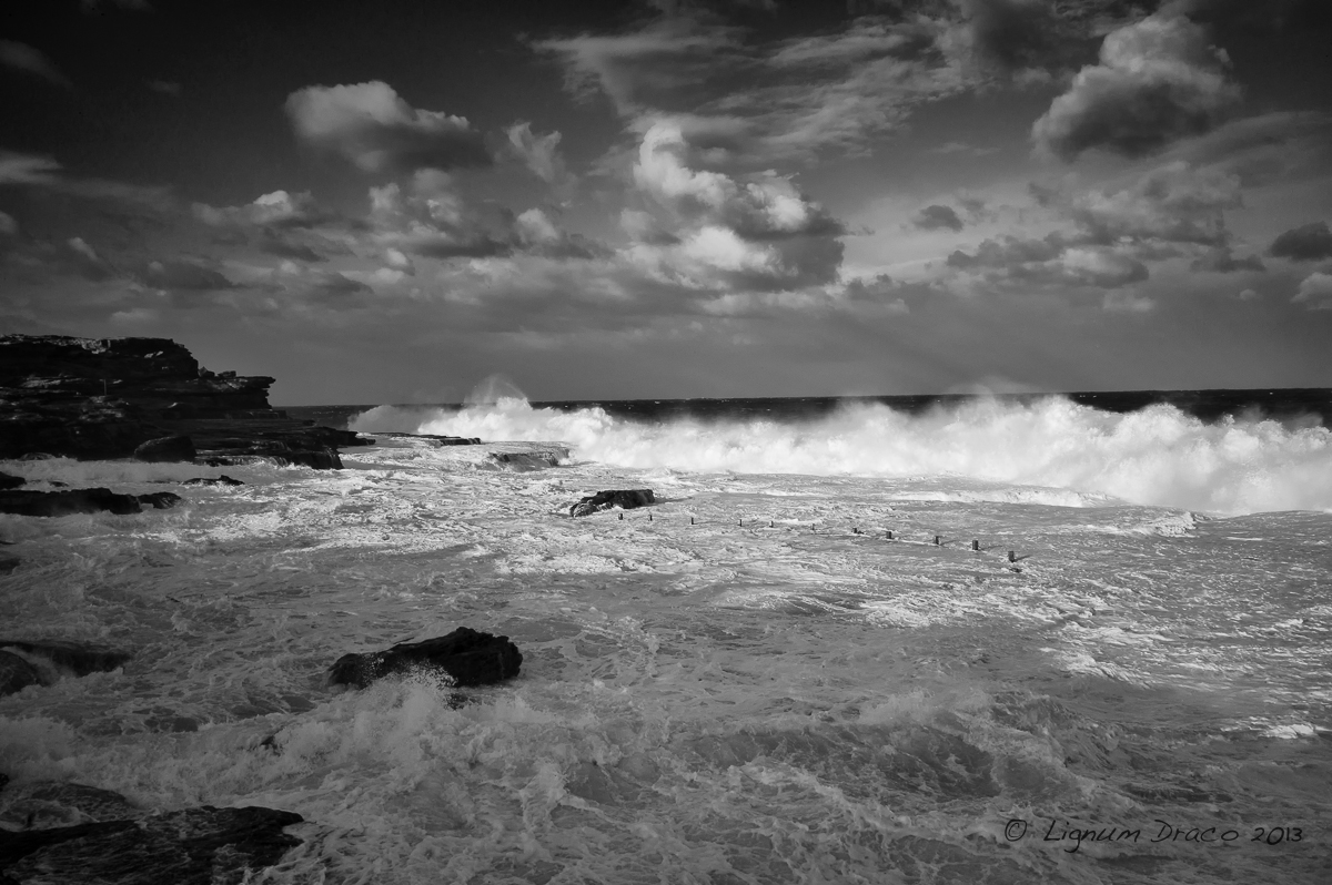 The sea was angry